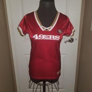 NFL Ladies 49ers Jersey Top